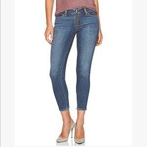 Levi's women's 711 exposed  zip up skinny jeans 28